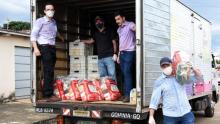 OVG distribui mil cestas básicas em Goiânia
