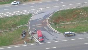 Bebê morre após capotamento de carro na BR-060