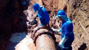 Após reparos em adutora, abastecimento de água é normalizado na grande Goiânia