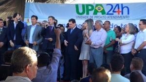 Com presença do ministro da Saúde, Maguito inaugura UPA em Aparecida de Goiânia