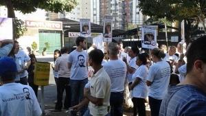 Dois anos sem Valério Luiz. Manifestação leva cerca de 300 pessoas às ruas de Goiânia