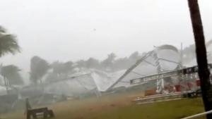 Chuva forte deixa feridos em confraternização de produtora de sertanejos em Goiás