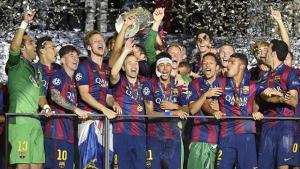 Com gols de Neymar e Suárez, Barcelona conquista 5º título da UEFA