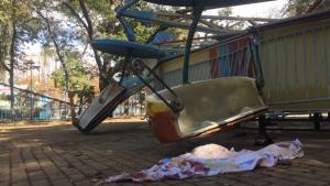 Vídeo mostra momento em que brinquedo quebra no Mutirama