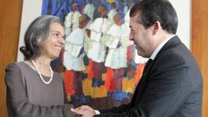 Cármen Lúcia e Ronaldo Nogueira discutem qualificação de presos