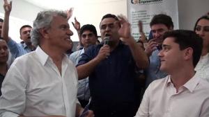 Cristóvão Tormin é vaiado em evento com a presença de Ronaldo Caiado em Luziânia