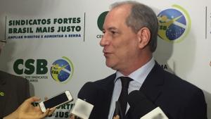 """""""Lula prestará um desserviço ao Brasil se for candidato"""", diz Ciro Gomes em Goiânia"""