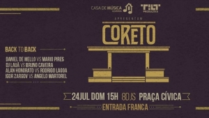 Coreto, uma festa de música e art déco na Praça Cívica