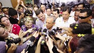 Iris Rezende candidato resgata o discurso ideológico do PMDB