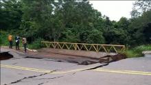 Seinfra espera concluir contenção da erosão na Avenida Gabriel Henrique na terça-feira