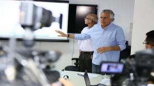Caiado acusa rombo nas contas públicas e aumento de pagamentos a terceirizados