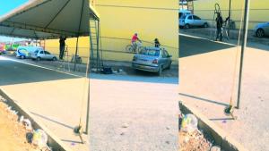 Campanha de Enio Tatico danifica asfalto em Águas Lindas