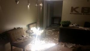Advogado fica ferido após explosão de bomba em escritório de advocacia