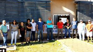 Em greve, servidores federais bloqueiam reitoria da UFG