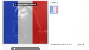 Facebook cria ferramenta em apoio à França