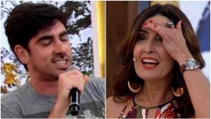 """Fátima Bernardes leva maior susto com rap de Adnet que diz que ela está """"na pista"""""""