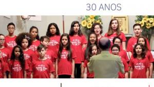 Concerto celebra 30 anos do Coral Pequenas Vozes