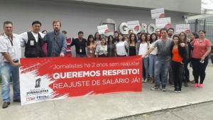 Proletários da TV Globo vão às ruas cobrar aumentos salariais decentes