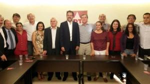 Gomide debate estratégias de campanha na sede nacional do PT e tem candidatura confirmada por Rui Falcão