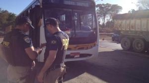 Operação da PRF flagra diversas irregularidades em ônibus que fazem o trajeto Goiânia – Anápolis