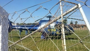 Após pane, helicóptero do candidato Alexandre Baldy faz pouso de emergência em Goianira