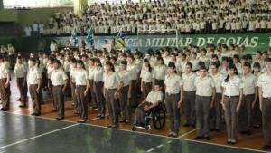 Escola de Goiânia protesta contra militarização