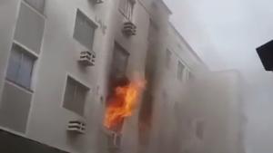 Homem é preso por colocar fogo em apartamento após brigar com esposa