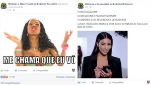 Hackers invadem página militar no Facebook e fazem piadas com divas gays