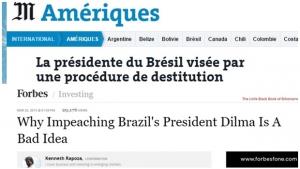 Imprensa internacional repercute admissão de processo de impeachment