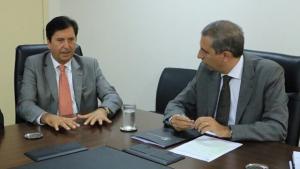José Eliton e Maguito discutem parcerias para segurança de Aparecida de Goiânia