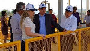 Governador em exercício, José Vitti vistoria ETA Mauro Borges antes do início do funcionamento