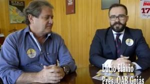 Presidente da OAB-GO causa polêmica após apoiar candidato em vídeo na sede da Ordem