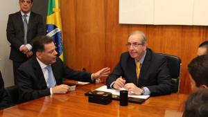 Marconi discute manutenção de incentivos fiscais em encontro com Eduardo Cunha