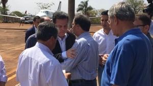 Em Itumbiara, Marconi visita familiares do ex-prefeito Zé Gomes