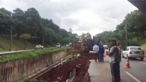 Trecho da Marginal Botafogo ficará interditado por pelo menos 10 dias