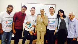 Marina Silva se reúne com militantes da Rede Sustentabilidade em Anápolis