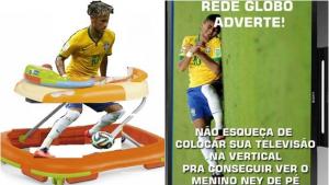 Quedas de Neymar viram meme nas redes sociais. Veja as melhoras reações