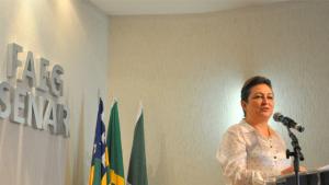 Em Goiânia, ministra Kátia Abreu minimiza crise e destaca função social do agronegócio