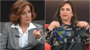 Kátia Abreu e Miriam Leitão travam embate durante sabatina. Assista