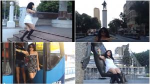 """Cantora arrasa pelo centro de Goiânia com versão de """"Pumped Up Kicks"""""""