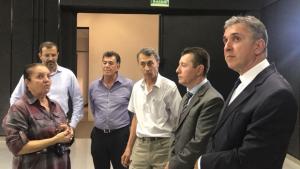 Líder da oposição visita nova TBC e elogia inovação das emissoras de rádio e TV