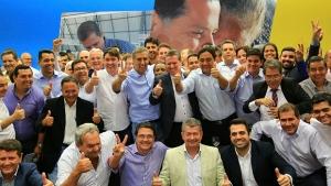 Base aliada filia mais 23 prefeitos em evento em Goiânia
