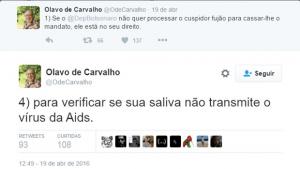 Associação Brasileira de Aids condena Olavo de Carvalho por comentário preconceituoso