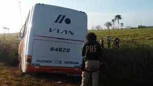Colisão entre dois ônibus em Anápolis deixa dez feridos