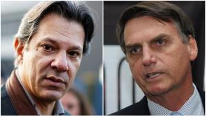 Pesquisa aponta Bolsonaro em primeiro com 28% e Haddad em segundo com 17%