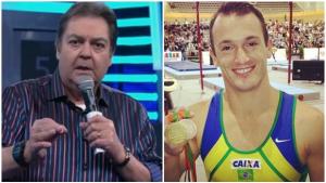 """Diego Hypolito é impedido de ir a """"Faustão"""" e apresentador ataca Comitê Olímpico"""