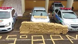 Polícia apreende uma tonelada de maconha dentro de carro em Jataí. Dois foram presos