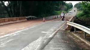 Após rompimento, tráfego na GO-040 em Pontalina é liberado