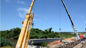 Obras da ponte da GO-020 são retomadas
