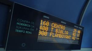 Pontos do Centro de Goiânia agora têm horário dos ônibus em tempo real